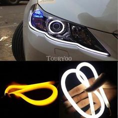 a 2x car truck switchback drl led light strip tube amber sequential turn signal