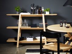 Open double-sided divider MDF shelving unit TERASSO By Karl Andersson design Peter Gest