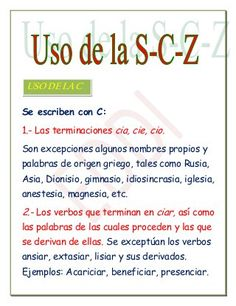 Leccion de uso c s z Spanish Grammar, Ap Spanish, Spanish Words, Spanish Language Learning, Language Arts, Spanish Lessons For Kids, Spanish Teaching Resources, Spanish Anchor Charts, Fly Quotes