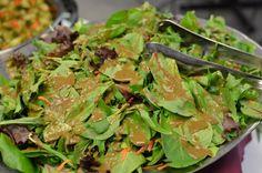 Baby Green Salad with Balsamic Basil Vinaigrette