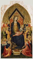 Madonna and Child with Musical Angels, Gherardo Starnina, about 1410