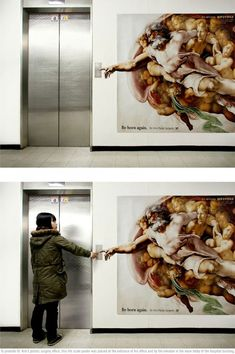 """""""be born again"""" clever ad for a plastic surgeon"""