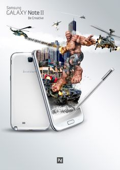 Samsung Galaxy | Unleash The Beast by Noxbil , via Behance