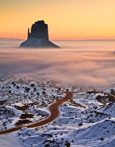 Sunrise in Monument Valley - Arizona by Dominique  Palombieri, via 500px