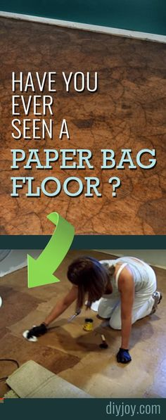 DIY Paper Bag Floor For Inexpensive Home Improvement on A Budget - Video Tutorial and Instructions