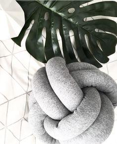 Grey Knot Cushion Knot Cushion, Tree Branches, Knots, Art Pieces, Cushions, Grey, How To Make, Ash, Gray