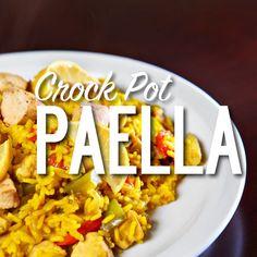 Slow Cooker Paella Recept recept Hoofdgerechten met long grain white rice, olive…
