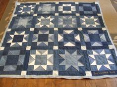 Denim Quilt~Love the sturdiness of denim and of course Stars!!
