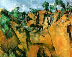 Bibemus Quarry Artist: Paul Cezanne Completion Date: Style: Cubism… Paul Cezanne, Cezanne Art, Gauguin, Georges Braque, Pablo Picasso, Aix En Provence, Provence France, Cubist Paintings, Cubism Art