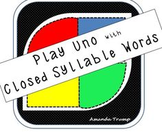 This game gives student exposure to closed syllable words. A closed syllable is one of the six syllable types in reading and the most basic syllable type to teach.  The game cards includes words spelled with all the short vowels in conjunction with common phonograms such as, -ab, -ad, -aft, -ang, ect. . . The game is played just like UNO. There are Draw 2, Reverse, Skip, Wild, Wild 4 cards, and 120+ closed syllable word cards in the deck.