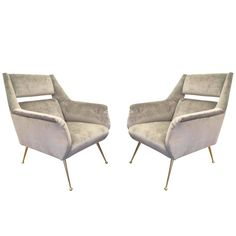 Italian Mid-Century Armchairs in the Style of Gio Ponti | 1stdibs.com