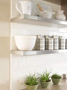 9 Enormous Simple Ideas: How To Decorate Floating Shelves Bathroom floating shelf decor stairs.Floating Shelf Storage Solid Wood floating shelves above couch texture. Kitchen Ikea, Kitchen Redo, New Kitchen, Kitchen Remodel, Kitchen Corner, Kitchen Backsplash, Kitchen Storage, Kitchen Island, Subway Backsplash
