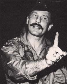 Brig Gen Robin Olds--USAF ace fighter pilot. General Olds was known for his courage, leadership ability, and outspoken demeanor.