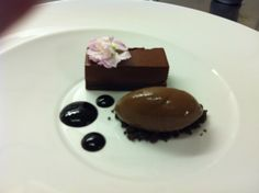 chocolate and blueberry