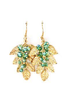 Harper Chandelier Earrings in Teal Vitrail on Emma Stine Limited