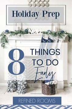 Learn how to prepare for Christmas early! Check off these 8 holiday prep tasks from the holiday to-do list EARLY in order to set yourself up for a more joyful December this year. A little… Small Space Organization, Home Organization Hacks, Organizing Your Home, Organizing Tips, Home Staging Tips, Christmas Planning, Planning Your Day, Organize Your Life, Home Decor Inspiration