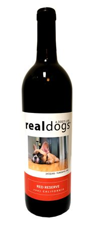 Real Dogs Wine! Personalize a bottle with a picture of your pup and a portion of the proceeds goes to animal rescue organizations! Awesome!
