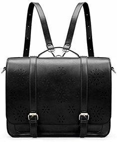 1510af920be9a ECOSUSI Women Briefcase PU Leather Laptop Backpack Shoulder Computer Bag  Messenger Satchel fit 14.7 inch Laptop