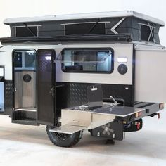 Black Series Camper - Cesa Home Decor Ideas Motorcycle Camping, Truck Camping, Camping Gear, Off Road Camping, Overland Truck, Overland Trailer, Off Road Camper Trailer, Camper Trailers, Rv Solar Panels
