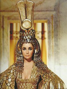 Elizabeth Taylor in Cleopatra.