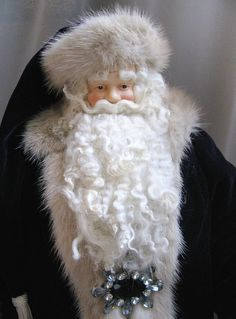 Father Christmas Doll: Purple Santa with by FatherChristmasJoy