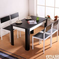 优以品家具 春色餐桌 餐厅简约现代快餐桌椅子组合时尚饭桌 餐椅-淘宝网