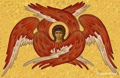 Seraphim Angels occupy the first position in the angelic hierarchy, they are so important because they are the angels closest to God. The Seraphim are Byzantine Icons, Byzantine Art, Religious Icons, Religious Art, Angel Hierarchy, Order Of Angels, Seraph Angel, Guardian Angels, Angels And Demons