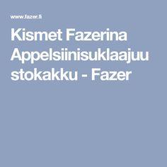Kismet Fazerina Appelsiinisuklaajuustokakku - Fazer