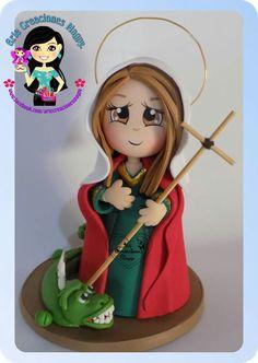 Virgen Biscuit, Pasta Flexible, Sugar Art, Cake Toppers, Paper Art, Religion, Sculptures, Sculpting, Clay