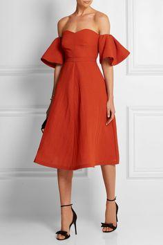 VIKA GAZINSKAYA Off-the-shoulder silk-blend cloqué dress