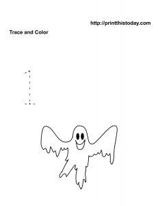 Number one Halloween Math Worksheet