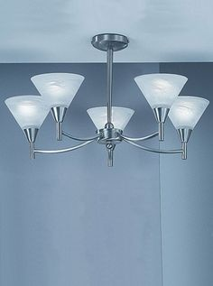 PE9835 Harmony 5 light semi-flush downlighting, satin nickel with alabaster glass. 5 down lighting semi-flush fitting in a satin nickel finish with alabaster effect glasses. 5 x 60w E14 Golf Ball Lamps not included Height- 31cm Diameter: 57cm BRAND- Franklite REFERENCE- PE9835 AVAILABILITY: 3-4 Working Days