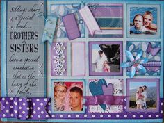 Brothers & Sisters Canvas using Quick Quotes Summer Breeze Line