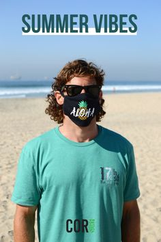 Who else is feeling those summer vibes?!? Get your surf boards ready and head to the sand with our California cotton face mask. Made in the USA and great for surfers.
