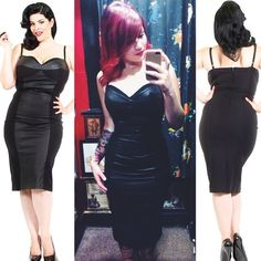 This dress just may be the sexiest style we have ever stocked! #blamebetty #wiggledress #pinup