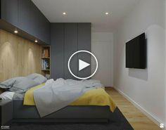 Minimalist bedroom design with splash of bright colors Indian Bedroom Design, Bedroom Wall Designs, Home Room Design, Modern Bedroom Design, Master Bedroom Design, Home Bedroom, Bedroom Decor, Fitted Bedrooms, Minimalist Bedroom