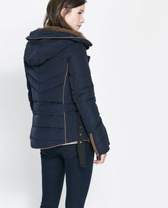 SHORT QUILTED JACKET WITH HOOD from Zara
