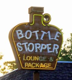 Home....I lived right down the road from here when I was 14.  Bottle Stopper neon sign - Panama City, FL