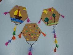 Art For Kids, Crafts For Kids, Arts And Crafts, Paper Crafts, Kites Craft, Carnival Crafts, Sunday School Crafts, School Decorations, Spring Crafts