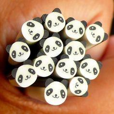 Panda Polymer Clay Cane Animal Bear Fimo Cane Kawaii Nail Art Nail Deco Nail Decoration Scrapbooking Earrings Making CAN044 via Etsy