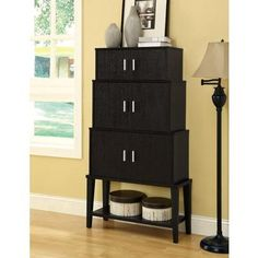 Monarch Specialties - Cappuccino 55 Inch H Stacking Style Storage Cabinet - I 2547 - Home Depot Canada