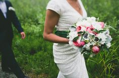 close up of bride's flowers photo by Whistler Wedding Collective