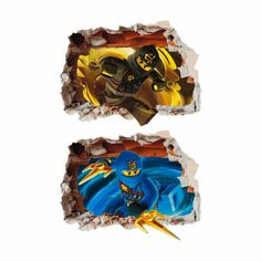Lego Ninjago Set Hole in Wall Art Stickers Decal by Solosignsuk