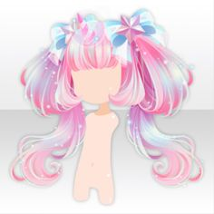(Hairstyle) Unicorn Dreamy Cute Twin Tails Hair ver.A pink.jpg