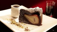 Chocolate And Red Wine Pear Cake Mkr