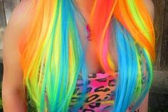 Neon hair!!! LOVE IT!!