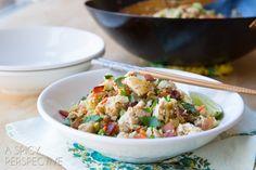 Paleo Cauliflower Fried Rice Recipe via @spicyperspectiv