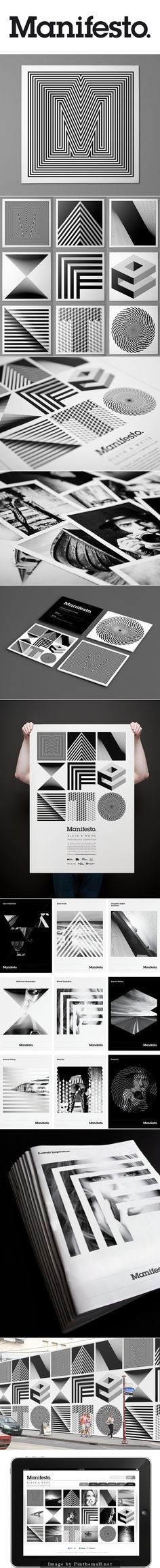 Manifesto Identity By Josip Kelava. Manifesto is a black and white photographic competition for university students studying Photography in Melbourne.