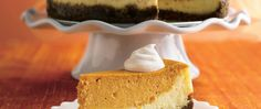 Try a double flavor bonus cheesecake with a classic vanilla layer and a spiced up pumpkin layer.