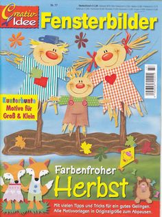 Fensterbilder Farbenfroher HERBST - jana rakovska - Àlbums web de Picasa Silhouette Design, Fall Crafts, Crafts To Make, Diy For Kids, Crafts For Kids, Book Crafts, Paper Crafts, Magazine Crafts, Magazines For Kids